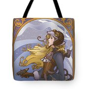 Steampunk Winter Tote Bag