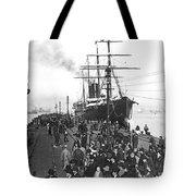 Steamship In Japan Tote Bag