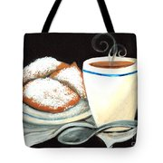 Steamy Coffee Swirls Tote Bag