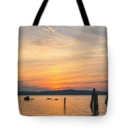 Steamy Hudson River Sunrise Tote Bag