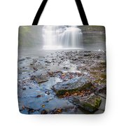 Steamy Morning At Pixley Falls Tote Bag