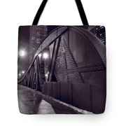 Steel Bridge Chicago Black And White Tote Bag