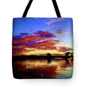 Steel Bridge Sunset Silhouette Tote Bag