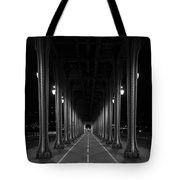 Steel Colonnades In The Night Tote Bag