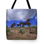 Steel Horses Tote Bag