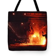 Steel Mill--china Tote Bag