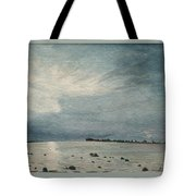 Steel Morning In Rock Garden Tote Bag