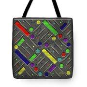 Steel Plate Geometrics Tote Bag