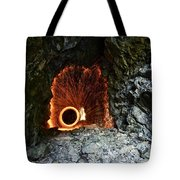 Steel Wool Photography In A Cave Tote Bag