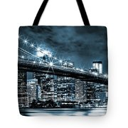 Steely Skyline Tote Bag
