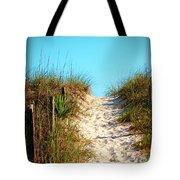 Steep Beach Path Tote Bag