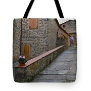 Steep Street In Montalcino Italy Tote Bag