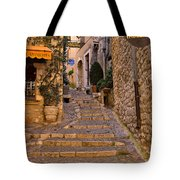 Steep Street In St Paul De Vence Tote Bag