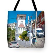 Steep Streets Up The Hills In Valparaiso-chile   Tote Bag