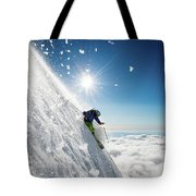 Steep Summer Volcano Skiing Tote Bag