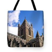 Steeple In The Clouds Tote Bag