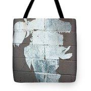Steer Skull Abstract Tote Bag