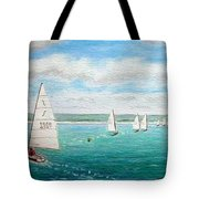 'steer The Course' - West Kirby Marine Lake, Wirral Tote Bag