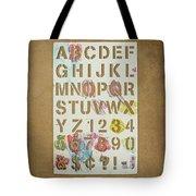 Stencil Alphabet Fun Tote Bag by Scott Norris