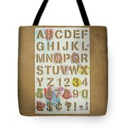 Stencil Alphabet Fun Tote Bag
