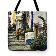 Step Street In Obidos Tote Bag