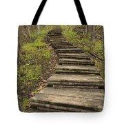 Step Trail In Woods 17 A Tote Bag