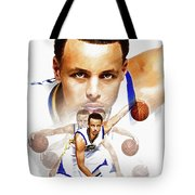 Steph Curry 2017 Profile Tote Bag