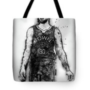 Steph Curry, Golden State Warriors - 18 Tote Bag