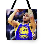 Steph Curry, Golden State Warriors - 19 Tote Bag