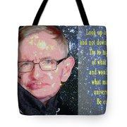 Stephen Hawking Poster Tote Bag