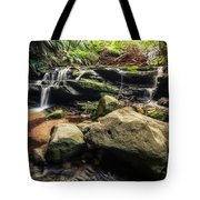Stepping Cascade - Leura, Blue Mountains, Australia. Tote Bag
