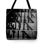 Stepping On Shadows Tote Bag