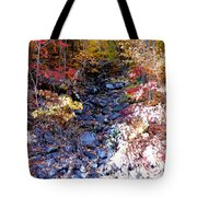 Stepping Stones At Autumn Forest Tote Bag