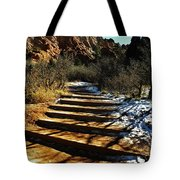 Steps And Shadows Tote Bag