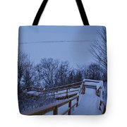 Steps Into Winter Tote Bag