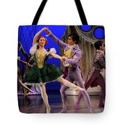 Stepsister Ballerinas En Pointe And Guests Ballroom Dancing In B Tote Bag