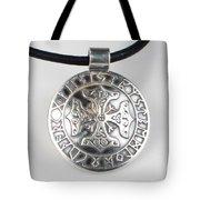Sterling Silver Viking Celtic Cross Tote Bag