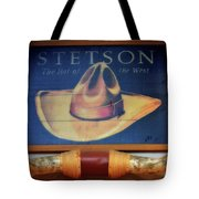 Stetson The Hat Of The West Signage Tote Bag