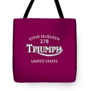 Steve Mcqueen Isdt Triumph Tote Bag by Mark Rogan