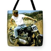 Steve Mcqueen, Triumph Motorcycle, On Any Sunday Tote Bag