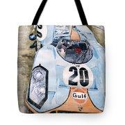 Steve Mcqueens Porsche 917k Le Mans Tote Bag by Yuriy  Shevchuk