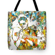 Steve Vai Paint Splatter Tote Bag