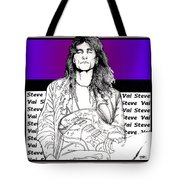 Steve Vai Sitting Tote Bag