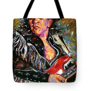 Stevie Ray Red Guitar Tote Bag