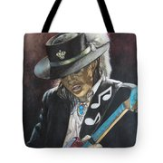 Stevie Ray Vaughan  Tote Bag by Lance Gebhardt
