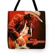 Stevie Ray Vaughan Painting Tote Bag