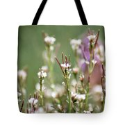 Stick Flower Tote Bag