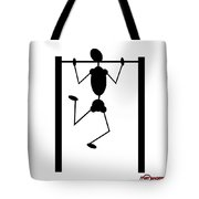 Stickman Pull Up Tote Bag
