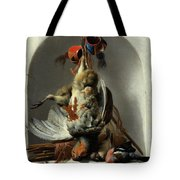 Stil Life With Birds And Hunting Gear In A Niche  Tote Bag