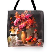 Still - Floral And Fruit Tote Bag